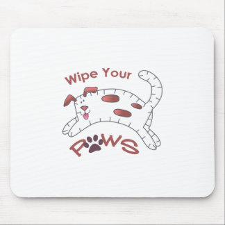 Wipe Your Paws Mouse Pad