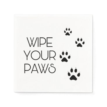 Beach Themed Wipe Your PAWS Paper Napkin