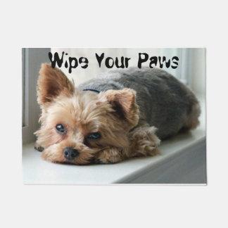 Wipe Your Paws Yorkie Doormat
