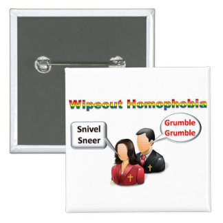 Wipeout Homophobia Button
