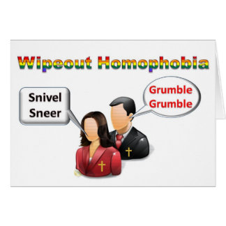 Wipeout Homophobia Card