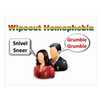 Wipeout Homophobia Postcard