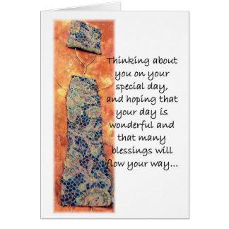 Wire Art Birthday Greeting Card