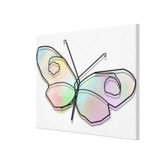 Wire Butterfly Canvas Print