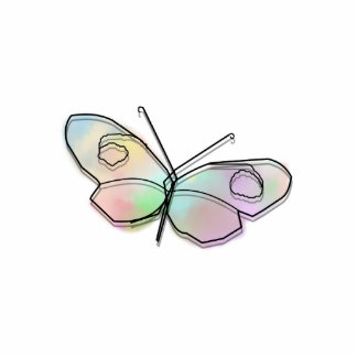 Wire Butterfly Photo Cutouts