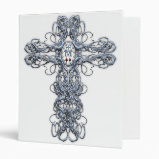 Wire Cross with Miraculous Medal Binder