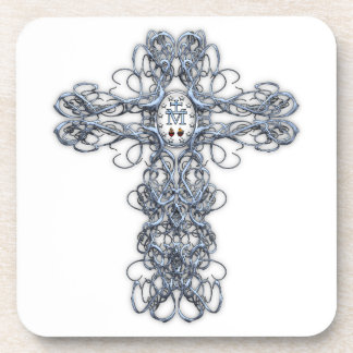 Wire Cross with Miraculous Medal Coaster