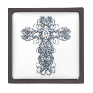 Wire Cross with Miraculous Medal Premium Trinket Box
