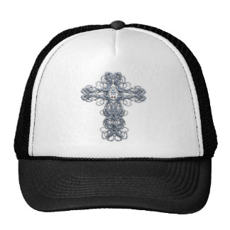 Wire Cross with Miraculous Medal Trucker Hat