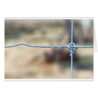 Wire Fence Card
