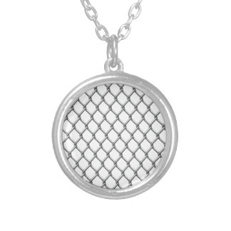 Wire fence seamless tile personalized necklace