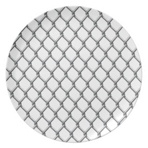 Wire fence seamless tile plate