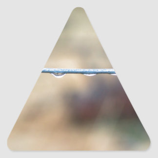 Wire Fence Triangle Sticker
