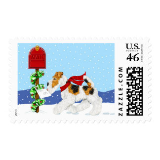 Wire Fox Christmas Mail Postage Stamps