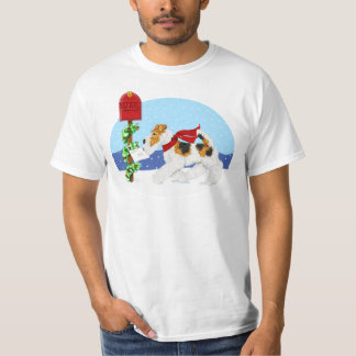 Wire Fox Christmas Mail T Shirt