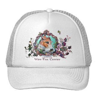Wire Fox Terrier Antique Portrait Mesh Hats
