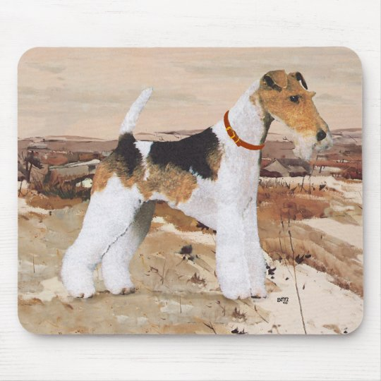 Wire Fox Terrier Autumn Mouse Pad