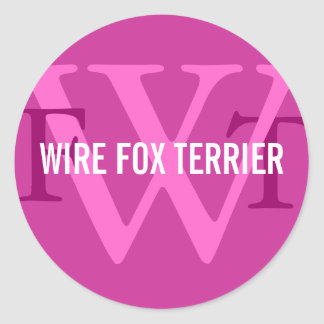 Wire Fox Terrier Breed Monogram Classic Round Sticker