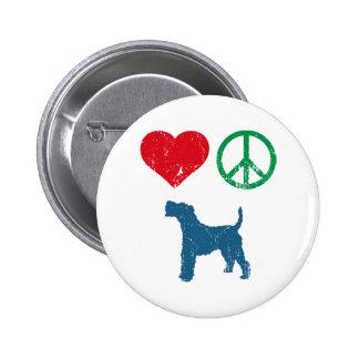 Wire Fox Terrier Button