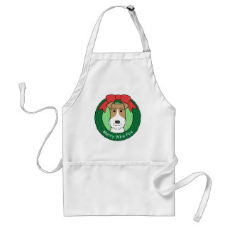 Wire Fox Terrier Christmas Apron