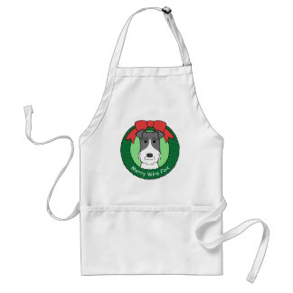 Wire Fox Terrier Christmas Aprons