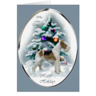 Wire Fox Terrier Christmas Gifts Greeting Card
