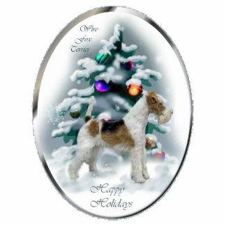 Wire Fox Terrier Christmas Gifts Ornament Photo Cutout