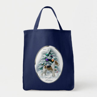 Wire Fox Terrier Christmas Gifts Tote Bag
