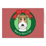 Wire Fox Terrier Christmas Greeting Cards