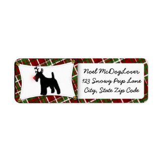 Wire Fox Terrier Christmas Label