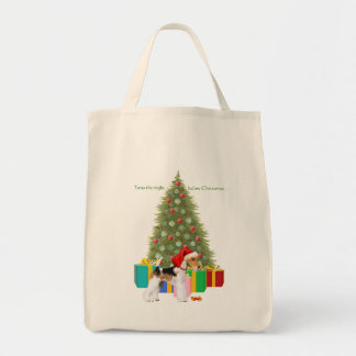 Wire Fox Terrier Christmas Tote Bag