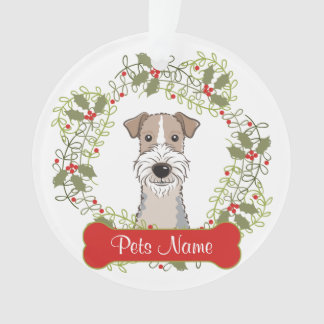 Wire Fox Terrier Customizable Ornament