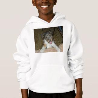 wire fox terrier cute pup hoodie