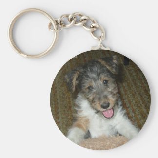 wire fox terrier cute pup keychain