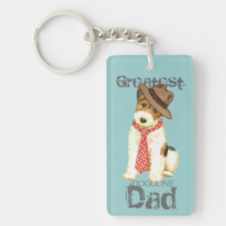 Wire Fox Terrier Dad Keychain