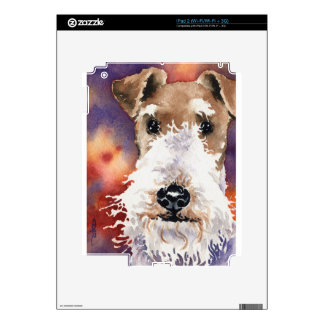 Wire Fox Terrier Decal For iPad 2