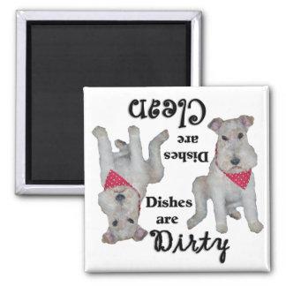 Wire Fox Terrier Dishwasher Magnet