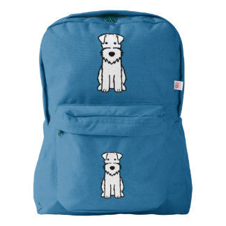 Wire Fox Terrier Dog Cartoon American Apparel™ Backpack