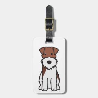 Wire Fox Terrier Dog Cartoon Bag Tag
