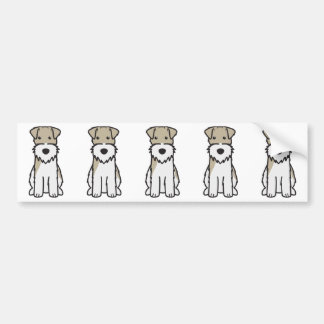 Wire Fox Terrier Dog Cartoon Bumper Sticker