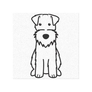 Wire Fox Terrier Dog Cartoon Canvas Print