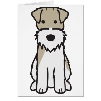 Wire Fox Terrier Dog Cartoon Card