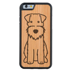Carved ® iPhone 6 Bumper Wood Case with Wire Fox Terrier Phone Cases design