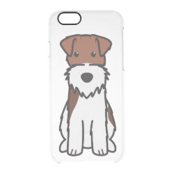 Uncommon iPhone 6 Clearly™ Deflector Case with Wire Fox Terrier Phone Cases design