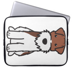 Neoprene Laptop Sleeve 15' with Wire Fox Terrier Phone Cases design