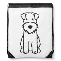 Wire Fox Terrier Dog Cartoon Drawstring Backpack