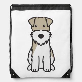 Wire Fox Terrier Dog Cartoon Drawstring Bag