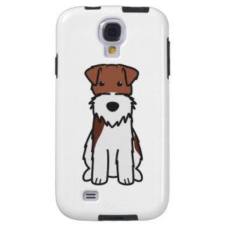 Wire Fox Terrier Dog Cartoon Galaxy S4 Case