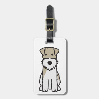 Wire Fox Terrier Dog Cartoon Luggage Tag