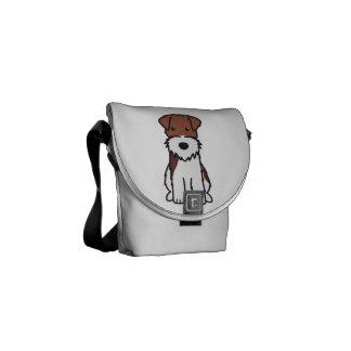 Wire Fox Terrier Dog Cartoon Courier Bag